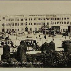 Postales: EGIPTO, EGYPT CAIRO MAIN RAILWAY STATION. ORIENTAL BUREAU. FOTO REAL. Lote 288730953