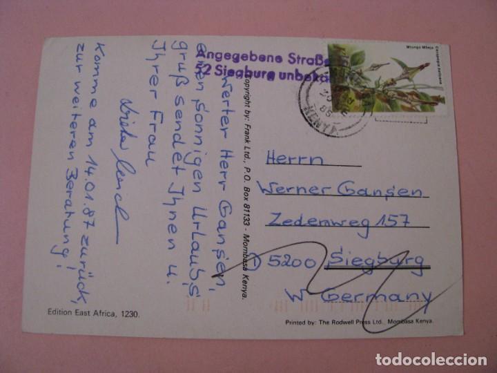 Postales: POSTAL DE KENIA. MOMBASA. CIRCULADA 1986. - Foto 2 - 289258568