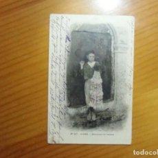 Postales: ALGER(ARGELIA)POSTAL CIRCULADA 1904 A MADRID. VENDEDOR DE JASMIN.. Lote 289349248