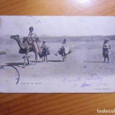 Postales: ALGER(ARGELIA)POSTAL CIRCULADA 1904 A MADRID. CARAVANA EN MARCHA.. Lote 289349398
