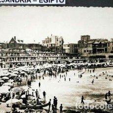 Postales: ANTIGUA POSTAL DE LA PLAYA DE ALEJANDRIA EGIPTO. Lote 294199028