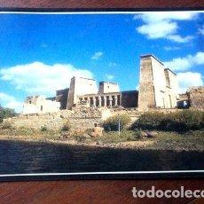Postales: POSTAL 1986 EGIPTO TEMPLO ISIS CON RARA ESTAMPILLA LA PLATA. Lote 294206398
