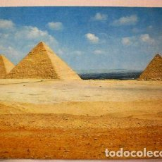 Postales: POSTAL LAS PIRAMIDES EGYPT. Lote 294209338