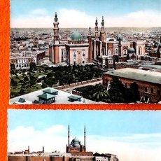 Postales: 2 ANTIGUAS POSTALES DE LA CIUDAD DE EL CAIRO EGIPTO. Lote 294211323