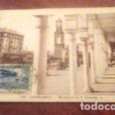 Postales: POSTAL ANTIGUA CASABLANCA MARRUECOS 1929. Lote 294231653