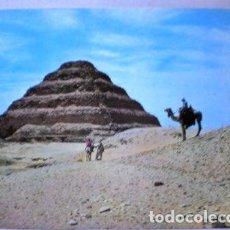 Postales: POSTAL PIRAMIDE DE ZOUSSER EGYPT. Lote 294242378