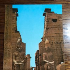 Postales: POSTAL LUXOR THE TEMPLE OF LUXOR EGYPT EGIPTO. Lote 296854708