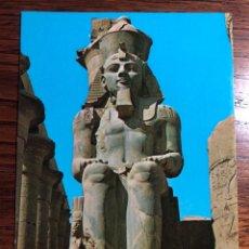 Postales: POSTAL LUXOR TRMPLE STATUE OF RAMSES II EGYPT EGIPTO. Lote 296855003