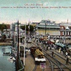 Postales: MUELLES DEL PUERTO DE CALLAO (PERU). Lote 4207439