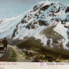 Postales: LINEA FERRO CARRIL CENTRAL DEL PERU. Lote 4207446