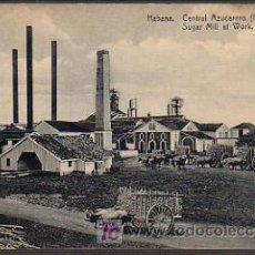 Postkarten - CUBA. HABANA. CENTRAL AZUCARERO (INGENIO). SUGAR MILL AT WORK. - 5482626