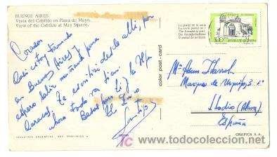 Postales: BUENOS AIRES .. Vista del cabido plaza de mayo .. 18 x10 cm. - Foto 2 - 7317592