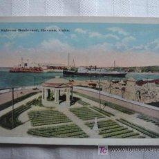 Postales: POSTAL DE LA HABANA, CUBA. -MALECON BOULEVARD. COLOREADA. SWAN, HABANA. 6. SIN CIRCULAR.. Lote 26948644