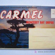 Postales: ACORDEON DE POSTALES DE CARMEL, MONTEREY BAY EMPIRE(AÑOS 60/70 APROX). Lote 19754373