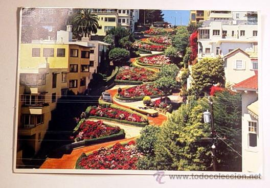 BONITA CALLE DE FLORES EN SAN FRANCISCO.NO CIRCULADA. (Postales - Postales Extranjero - América)