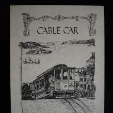 Postales: CABLE CAR. SAN FRANSCISCO. SIN CIRCULAR. 1969. Lote 8812820