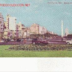 Postales: POSTAL DE LA AVENIDA 9 DE JULIO DE BUENOS AIRES, ARGENTINA. Lote 18496642