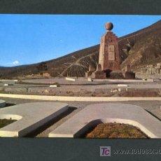 Postales: ECUADOR. QUITO. *EL MONUMENTO ECUATORIAL Y AL FONDO EL VOLCÁN COTOPAXI* CIRCULADA 1978, VER DORSO.. Lote 10881250