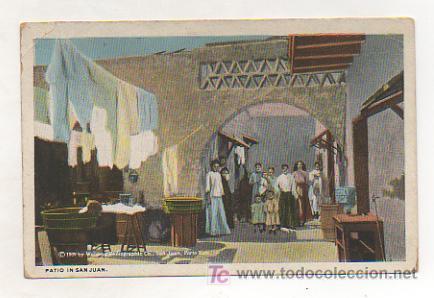 PUERTO RICO. SAN JUAN. UN PATIO. 1909. (Postales - Postales Extranjero - América)
