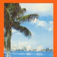 Postales: SAN JUAN PUERTO RICO. VISTA DE LA LAGUNA DEL CONDADO. SIN CIRCULAR. AÑOS 60. Lote 26803695