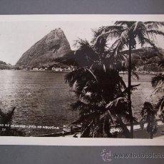 Postales: FOTO POSTAL DE BRASIL, RIO DE JANEIRO - PAO DE ASSUGAR- ESCRITA 1953, SIN CIRCULAR. Lote 23296352