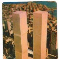 Postales: WORLD TRADE CENTER. NEW YORK. TWIN TOWERS. POSTAL TRIDIMENSIONAL. CIRCULADA EN 1974. TORRES GEMELAS. Lote 22835900