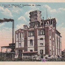 Postales: POSTAL REPUBLICA DE CUBA - FABRICA DE CERVEZA. Lote 27316751