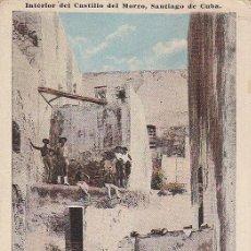 Postales: POSTAL REPUBLICA DE CUBA - INTERIOR DEL CASTILLO DEL MORRO - SANTIAGO DE CUBA. Lote 27578105
