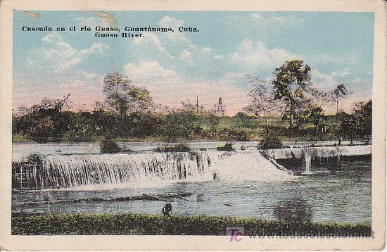 POSTAL REPUBLICA DE CUBA - CASCADA EN EL RIO GUASO - GUANTANAMO, CUBA SIN CIRCULAR (Postales - Postales Extranjero - América)