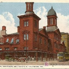 Postales: CAMDEM STATION (BLTIMORE AND OHIO R.R.) BALTIMORE M.D.. Lote 15817030