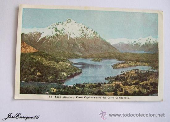 MONTAÑA NEVADA BARILOCHE ARGENTINA - LAGO MORENO, CERRO CAPILLA - 1951 (Postales - Postales Extranjero - América)