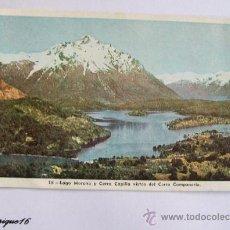 Postales: MONTAÑA NEVADA BARILOCHE ARGENTINA - LAGO MORENO, CERRO CAPILLA - 1951. Lote 25894245