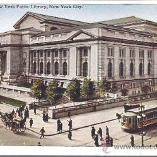 Postales: PS3911 NUEVA YORK 'THE NEW YORK PUBLIC LIBRARY'. GEO P. HALL&COM. SIN CIRCULAR. Lote 18185538