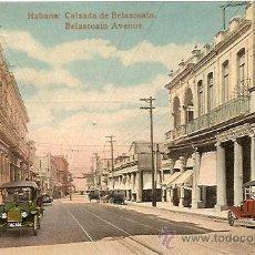 Postales: HABANA: CALZADA DE BELASCOAIN. CIRCULADA AÑO 1920. Lote 48295987