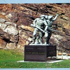 Postales: POSTAL THE AMERICAN SOLDIER STATUE 1935 - 1936 NEW YORK UNITED STATES MILITARY ACADEMY WEST POINT. Lote 18552178