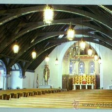 Postales: POSTAL INTERIOR CHAPEL MOST HOLY TRINITY WEST POINT CHAPEL NEW YORK AÑOS 70. Lote 18552919
