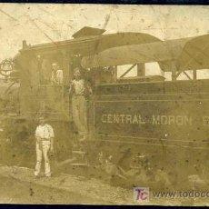 Postales: CUBA - MORON - FERROCARRIL DEL CENTRAL AZUCARERO DE MORON HACIA 1916. Lote 22425137