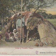 Postales: TOLDO Y FAMILA TOBAS.CHACO ARGENTINO.POSTAL SIN DIVIDIR.. Lote 27370922