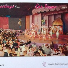Postales: GREETINGS FROM LAS VEGAS NEVADA - VENUS ROOM HOTEL NEW FRONTIER LV-26. Lote 26356036