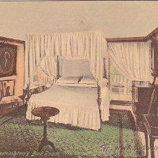Postales: GEORGE WAHINGTON: HABITACION MOUNT VERNON (VIRGINIA). TARJETA POSTAL FOSTER & REYNOLDS. SIN USAR. . Lote 22935596