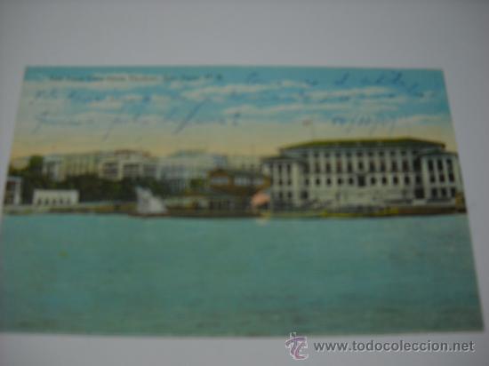 PUERTO RICO. SAN JUAN CITY FROM HARBOR, SAN JUAN P. R. ESCRITA EN 1921. SIN CIRCULAR (Postales - Postales Extranjero - América)