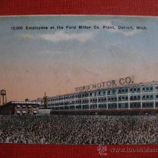 Postales: 12.000 EMPLEADOS AT LA FORD MOTOR. CO. PLANT, DETROIT MICHIGAN. Lote 24089311