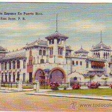 Postales: PUERTO RICO - SAN JUAN - CASA DE ESPAÑA - MINI POSTAL 6,50X9,50CM. Lote 24740860