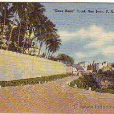 Postales: PUERTO RICO - SAN JUAN - CASA ROSA ROAD - MINI POSTAL 6,50X9,50CM. Lote 24740931