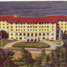 Postales: PUERTO RICO - SAN JUAN - CONDADO BEACH HOTEL - MINI POSTAL 6,50X9,50CM. Lote 24740973