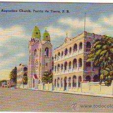 Postales: PUERTO RICO - PUERTA DE TIERRA - ST. AUGUSTINE CHURCH - MINI PORTAL 6,50X9,50CM. Lote 24741151