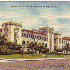 Postales: PUERTO RICO - SAN JUAN - SCHOOL OF TROPICAL MEDICINE - MINI POSTAL 6,50X9,50CM. Lote 24741283