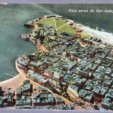 Postales: TARJETA POSTAL PUERTO RICO - VISTA AEREA DE SAN JUAN. Lote 24968497