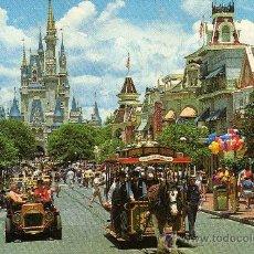 Postales: PRECIOSA POSTAL WALT DISNEY WORLD THE MAGIC KINGDOM ESCRITA CIRCULADA CON SELLO AÑO 1988. Lote 26455999