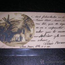 Postales: POST. FOTOGRAFICA, SAN JUAN DE PUERTO RICO, CIRCULADA 1904,14X8,5 CM.MANDADA POR LUIS BRAU,DIRECTOR . Lote 25770649